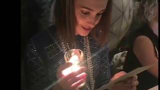 Katherine Barrell during her bachelorette party