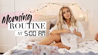 5AM PRODUCTIVE MORNING ROUTINE ☀️ Waking Up Early