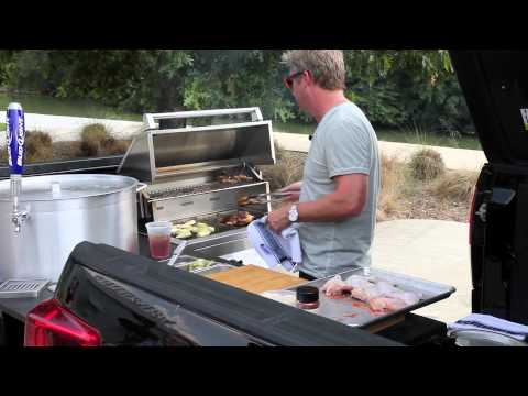 Chef Tim Love gives a grilling demo and tour of his tailgating truck