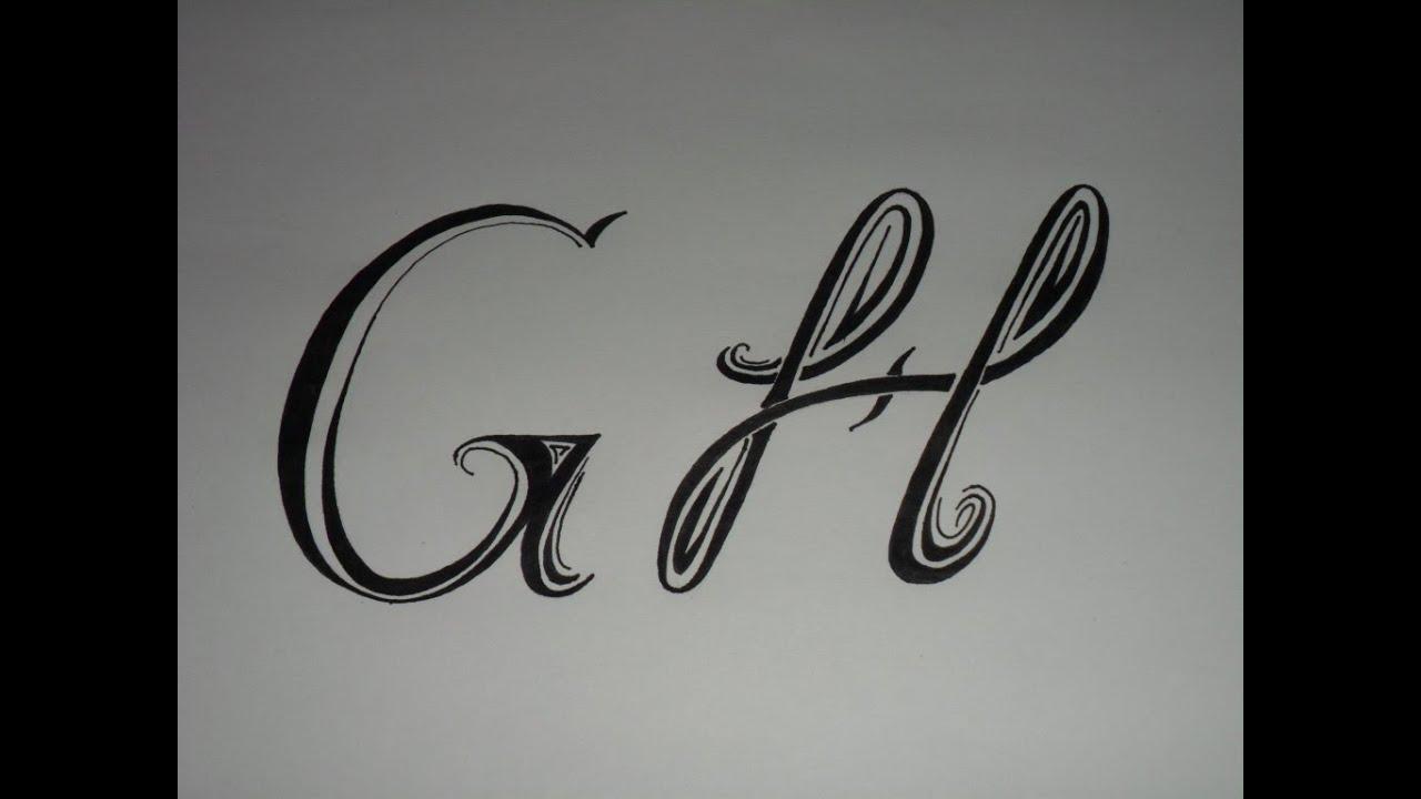 Letras tribales g y h bases elementales para dibujar - Letras para dibujar ...