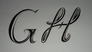 Letras tribales G y H. Bases elementales para dibujar letras tribales.