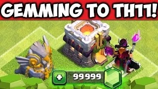 COC Gemming SPREE - GEMMING From TH 1 To TH 11 - COC MOD