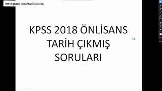 2018 kpss önlisans tarih çıkmış soruları