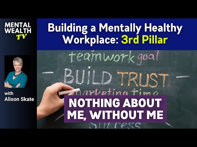 Strategy for Inclusion of Mental Illness at Work  (Pillar 3 'Nothing about me without me')