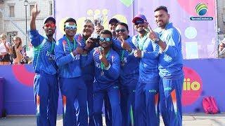 Team India celebrates after winning ICC CRIIIO Cup 2019