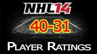 NHL 14 Player Ratings: Top 50 Players | 40-31 Thumbnail