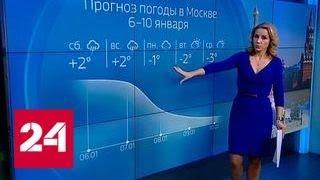 """""""Погода 24"""": зима попыталась вернуться в центр России - Россия 24"""