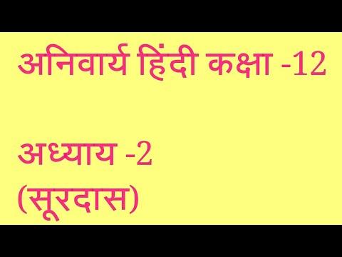 हिंदी पाठ।भ्रमरगीत के पद-सूरदास)।