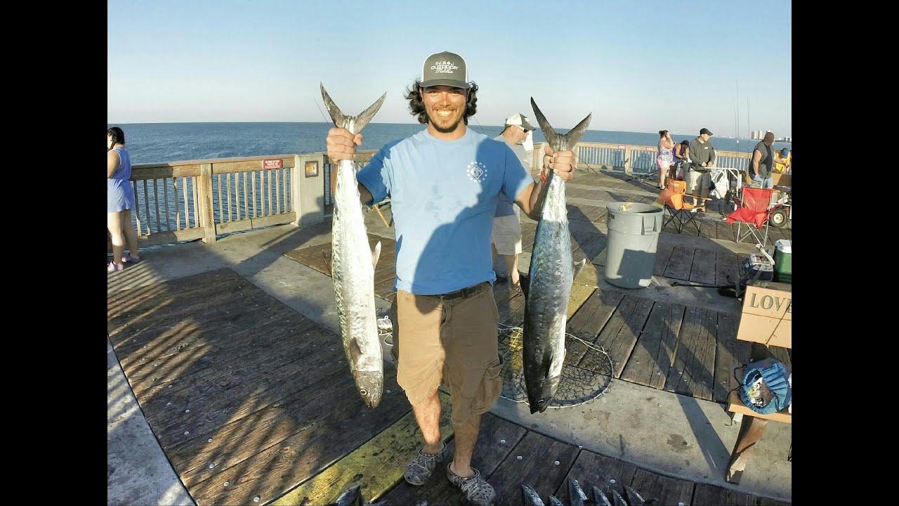 Going Saltwater King Mackerel Pier Fishing Youtube