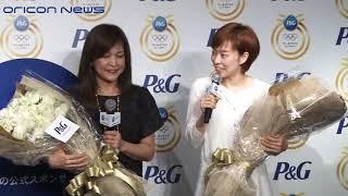 石川佳純選手、「金のバラ」贈呈に感激 P&G「ママの公式スポンサー」 リオデジャネイロオリンピック壮行会