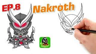 ROV : Nakroth สอนเทคนิควิธีวาดรูปฮีโร่นาคอส แบบง่ายๆ น่ารักๆ สไตล์ N Join Play EP. 8