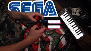 Миди-клавиатура из геймпада от СЕГИ   SEGA JOYSTICK MIDI KEYBOARD