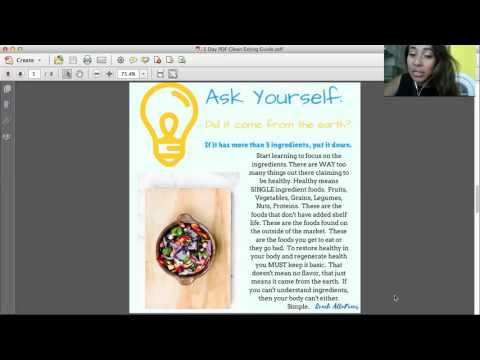 5 Day Clean Eating Pdf Welcome Call