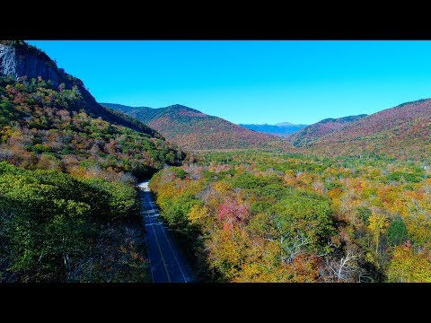 Fall Foliage White Mountains of NH By Drone October 2017