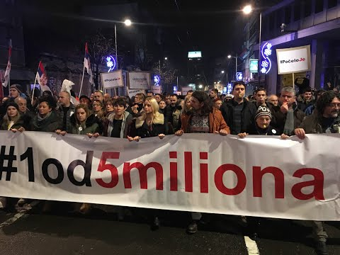 Serbia, thousands rally against the government in Belgrade