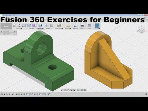 Fusion 360 Modeling for Beginners | Fusion 360 Practice Exercises for Beginners – 4