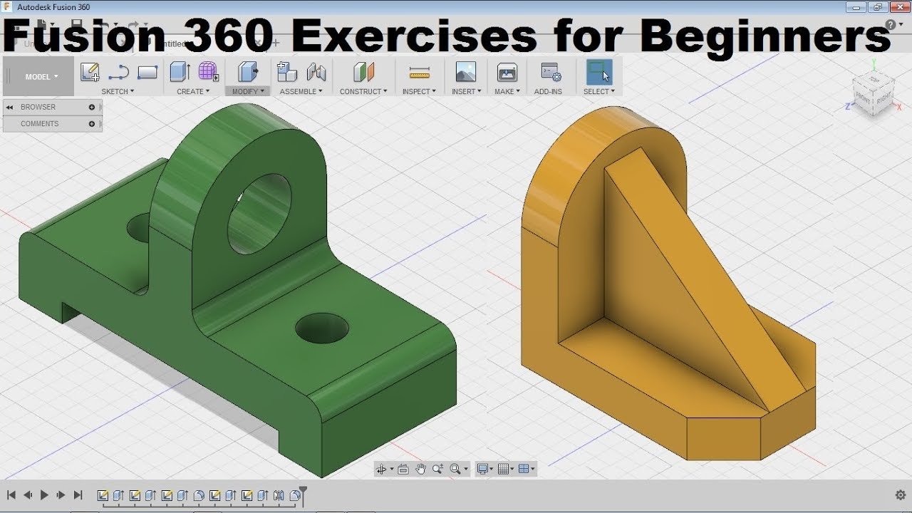 Fusion 360 Modeling for Beginners | Fusion 360 Practice Exercises for  Beginners - 4