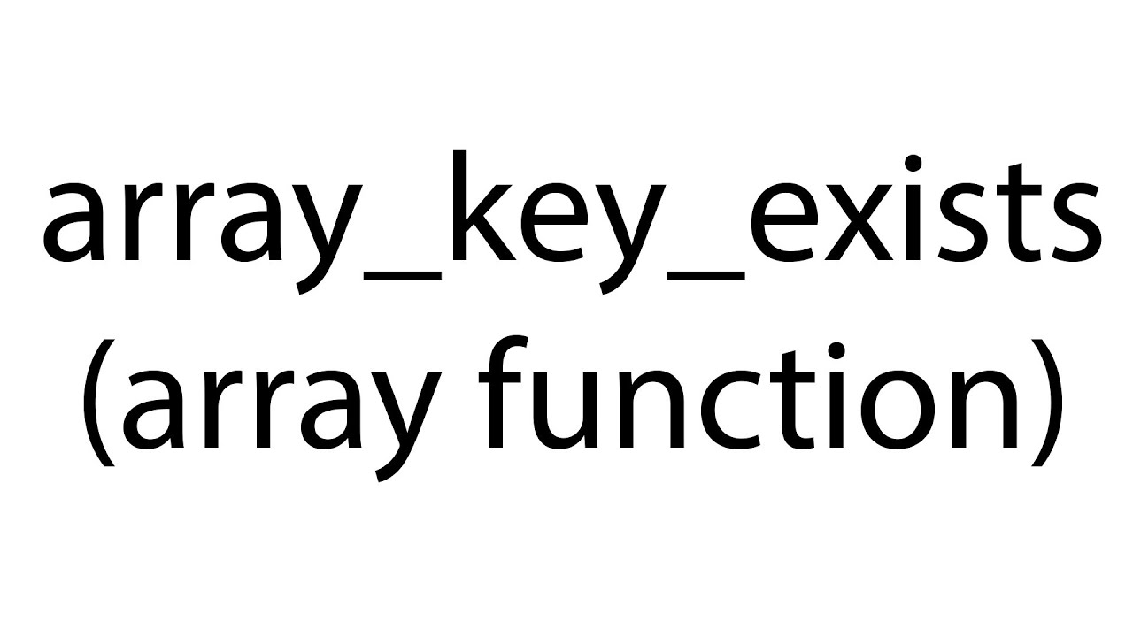 array_key_exists : array function: php bangla video tutorial