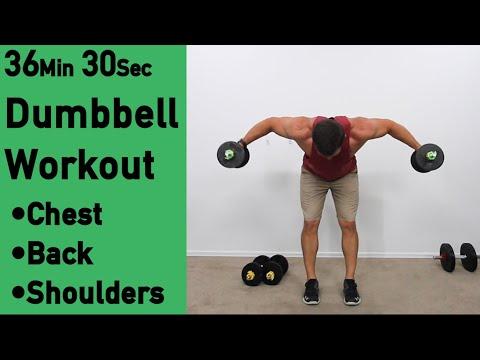 36 min Dumbbell Chest, Back & Shoulders Workout ACHV PEAK DB Combo Workout