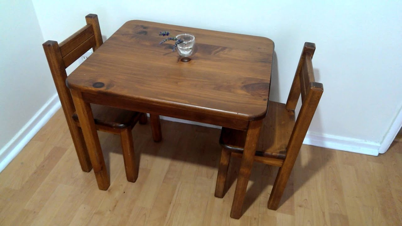 Montessori At Home Table Chairs For Baby Youtube