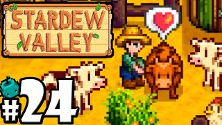 Stardew Valley Gameplay Walkthrough PART 24 - Cow Milk & Cheese! Stable Building, Secret Woods PC