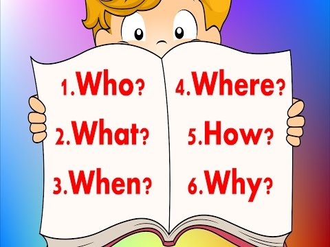 6 Questions | Fun Reading & Writing Comprehension Strategy For Kids | Jack Hartmann