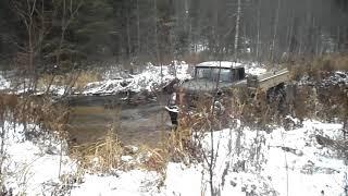 Зил-131, выезд из реки.
