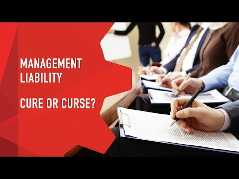 Management Liability, Cure or Curse? - 2015 Seminar Series