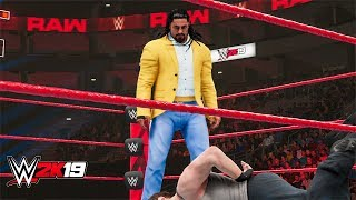 WWE 2K19 Roman Reigns returns and attack Dean Ambrose