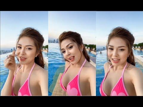 Ny Saki diện Bikini nóng bỏng bên hồ bơi