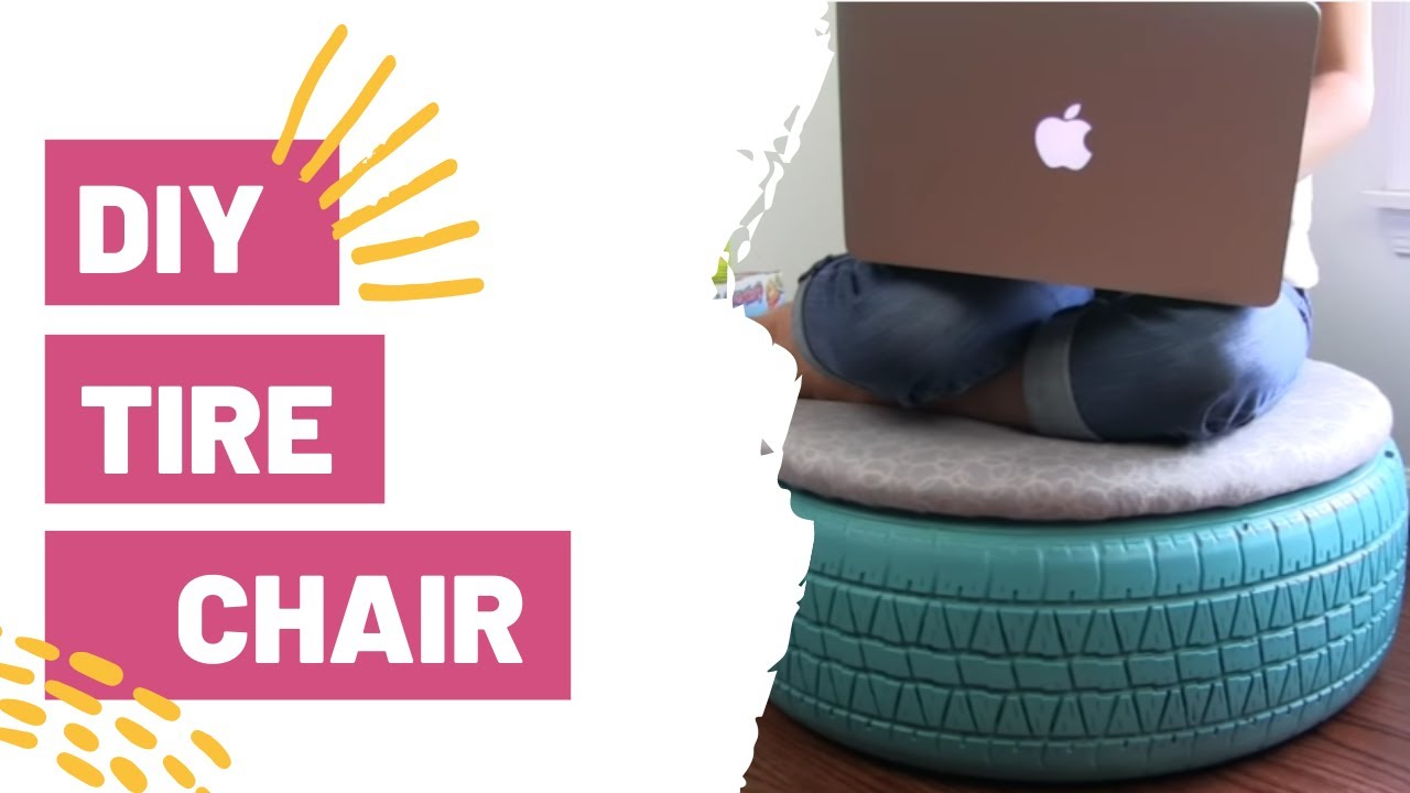 DIY TIRE CHAIR   TUMBLR INSPIRED   DIY ROOM DECOR - YouTube