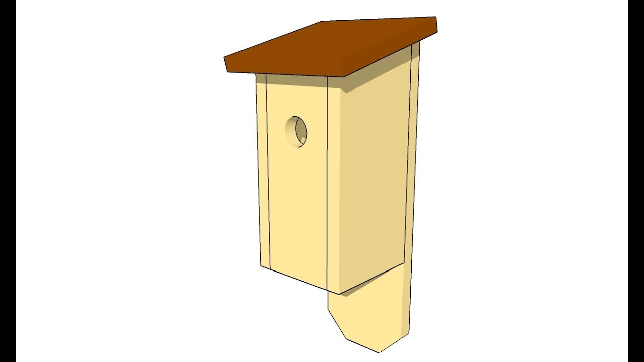 simple birdhouse plans - youtube