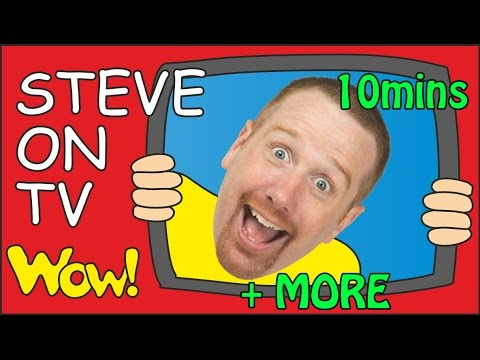 Surprise with Steve and Maggie on TV + More | Funny Stories for Kids | ESL Story Time with Wow TV