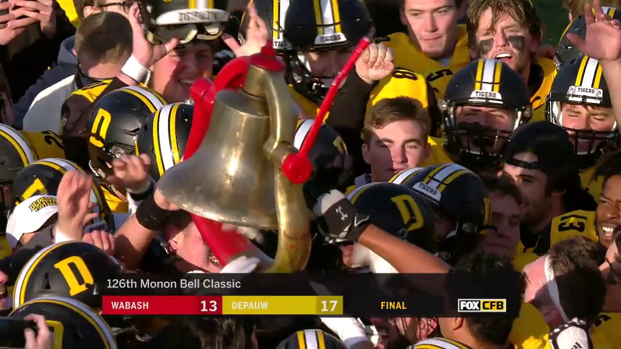 2019 'Monon Memory' - Thrilling Late Touchdown Gives DePauw the ...