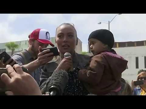 Migrant Caravan Arrives at San Diego Border With Honduran Flag Flying Asylum Seekers (REACTION)