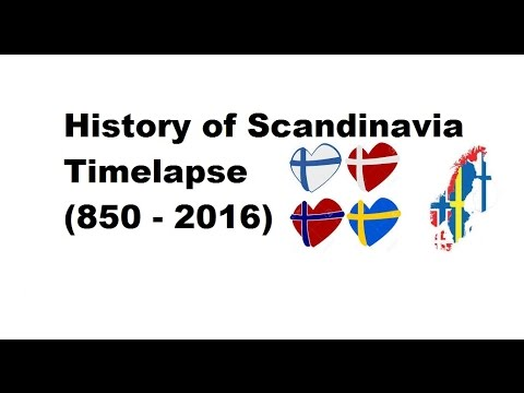 History of Scandinavia - Timelapse (850 - 2016)