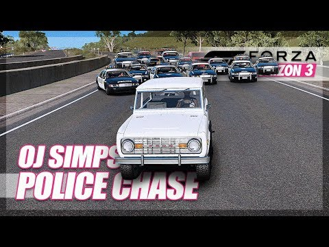 Forza Horizon 3 - The Greatest Police Chase of all Time... Recreated! (OJ Simpson)