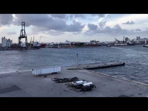 Port Everglades Departure on Royal Caribbean International's Independence of the Seas Time Lapse