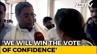 """Will Win The Numbers Game"": Siddaramaiah On Karnataka Coalition's Trust Vote"