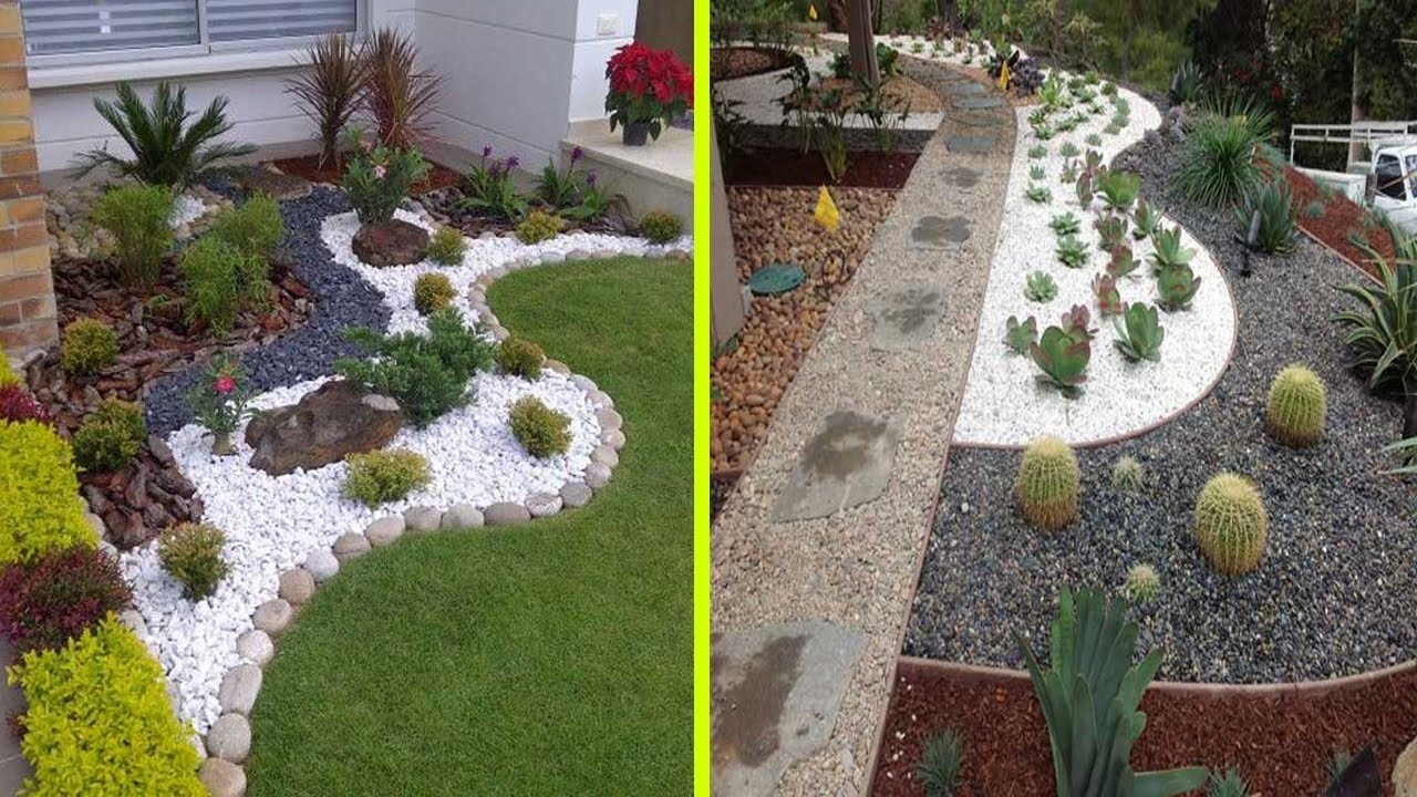 cool white gravel decoration ideas