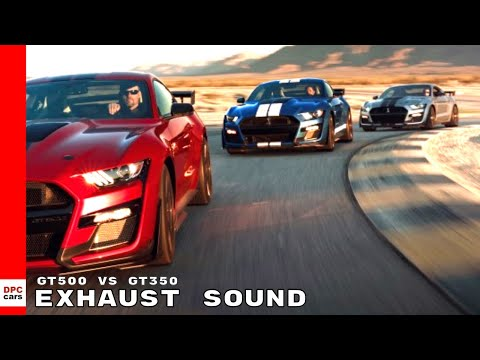 Mustang Shelby GT vs GT Exhaust Sound