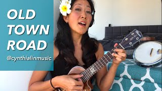 old-town-road-lil-nas-x-x-billy-ray-cyrus-remix-ukulele-cover-cynthia-lin-play-along