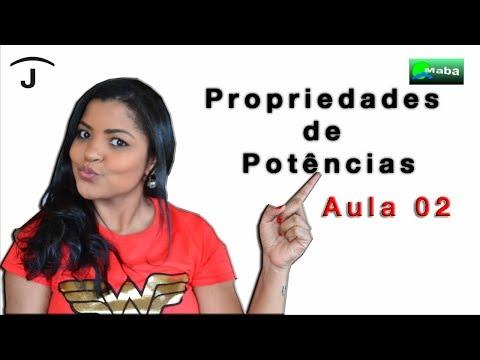 POTENCIAÇÃO - POTÊNCIA DE POTÊNCIAS - PARTE 02 -  Professora Jaqueline Siva