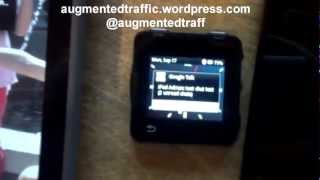 Demo of Augmented SmartWatch Pro running on a Motorola MotoACTV Smart Watch