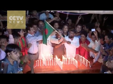 People celebrate India-Bangladesh enclave exchange after 68 years