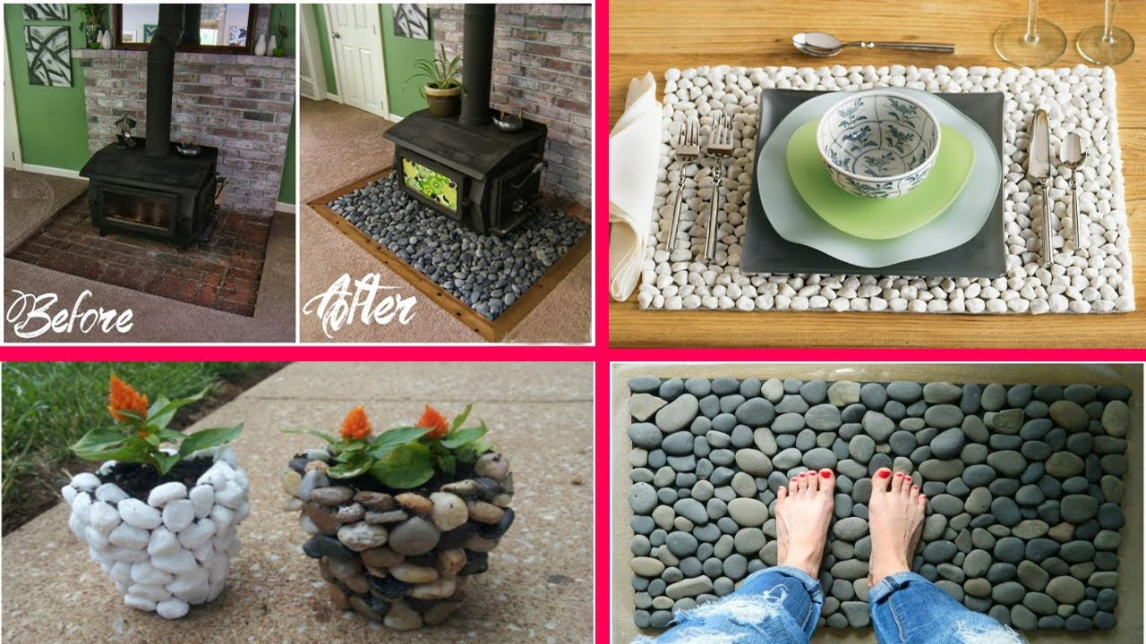 creative river rock craft rock crafts decoration home