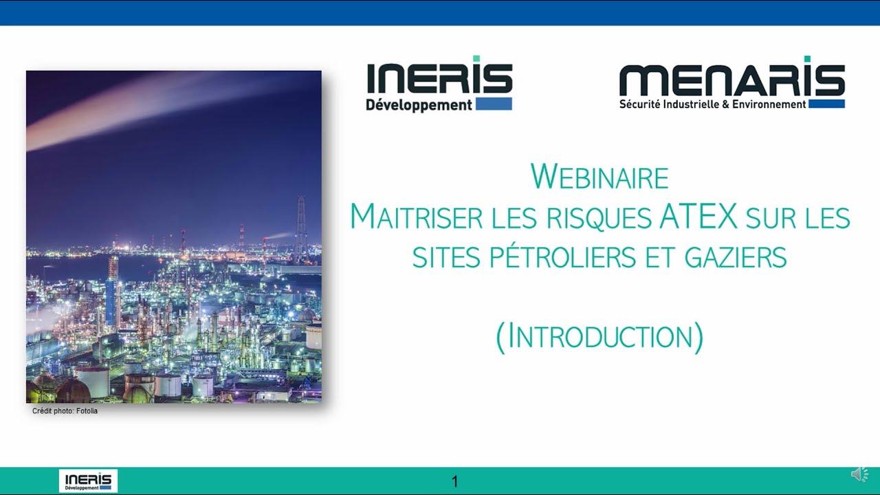 """Webinaire """"Maitriser les risques ATEX sur les sites pétroliers et gaziers"""""""