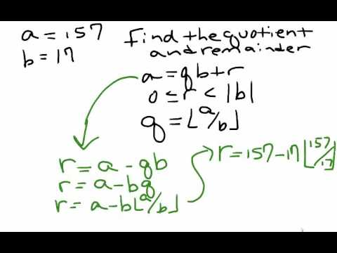 Number Theory-  The Division Algorithm