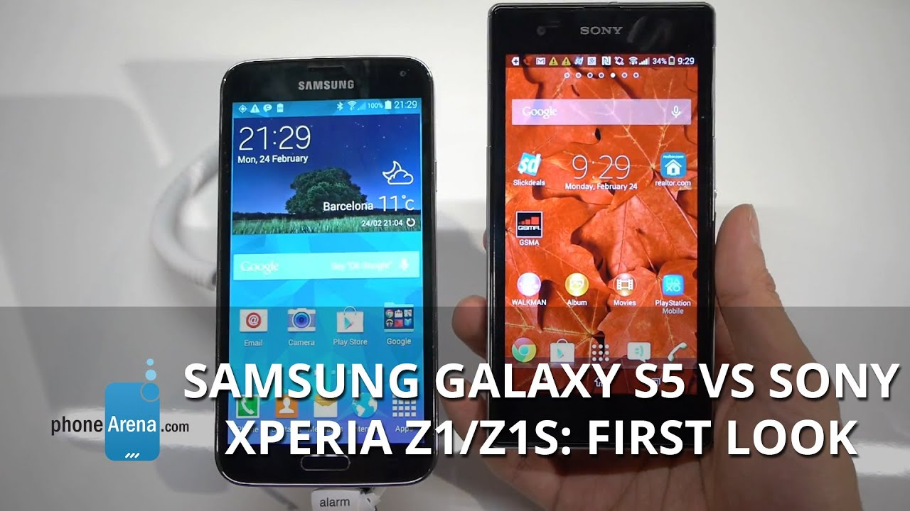 Samsung Galaxy S5 vs Sony Xperia Z1/Z1S: first look - YouTube