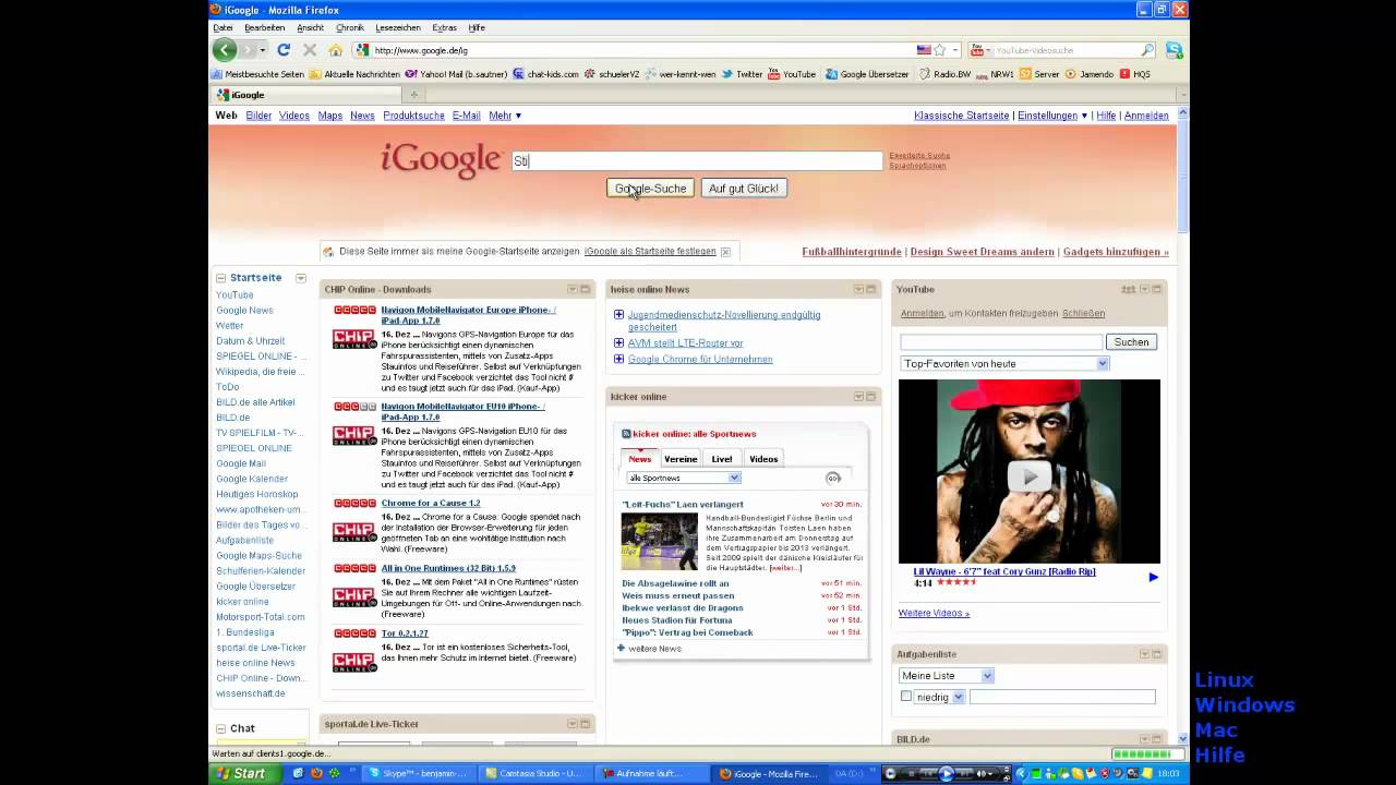 Desktop Als Pinnwand Youtube
